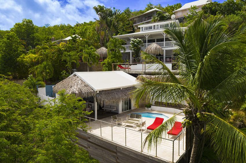 Ti Turquoise Vue Drone Bungalow Tartane Martinique